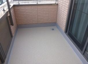 N様邸ベランダ:ウレタン防水及び重歩行用保護シート工法